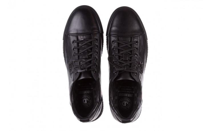 Trampki john doubare 10716-2 black, czarny, skóra naturalna  - niskie - trampki - buty męskie - mężczyzna 4