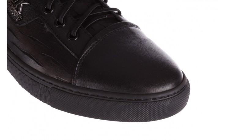 Trampki john doubare 10716-2 black, czarny, skóra naturalna  - niskie - trampki - buty męskie - mężczyzna 5