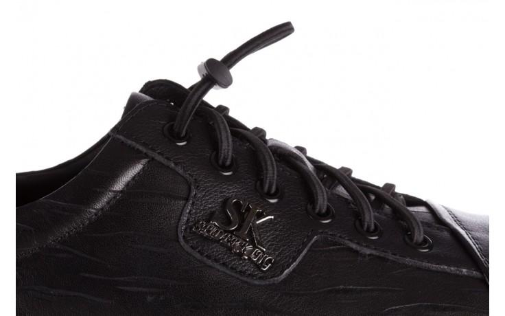 Trampki john doubare 10716-2 black, czarny, skóra naturalna  - niskie - trampki - buty męskie - mężczyzna 6