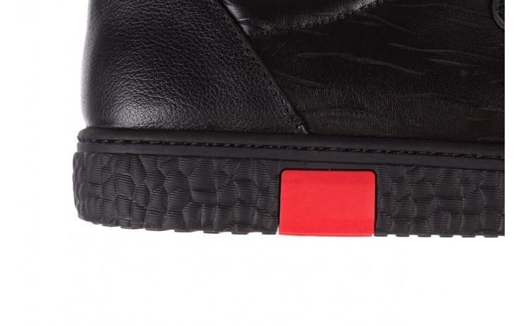 Trampki john doubare 10716-2 black, czarny, skóra naturalna  - niskie - trampki - buty męskie - mężczyzna 7