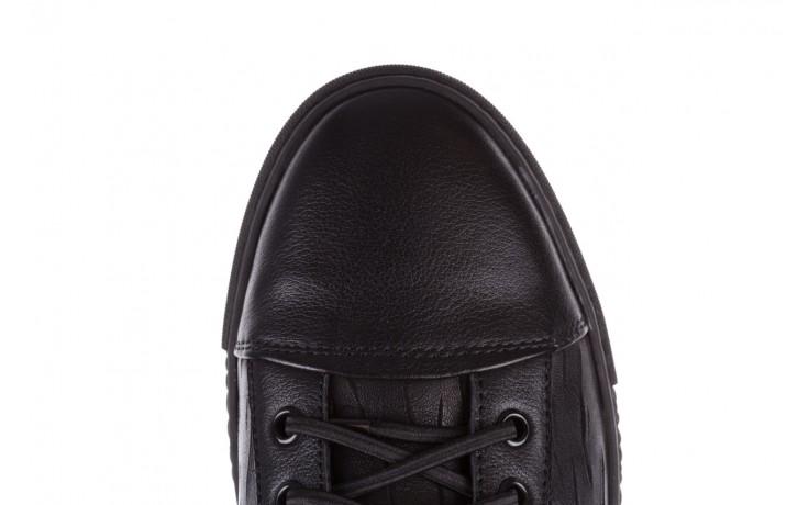 Trampki john doubare 10716-2 black, czarny, skóra naturalna  - niskie - trampki - buty męskie - mężczyzna 9