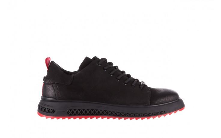 Trampki john doubare 1981-1m black, czarny, skóra naturalna   - buty męskie - mężczyzna