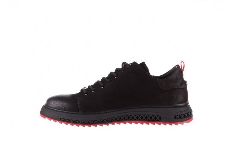 Trampki john doubare 1981-1m black, czarny, skóra naturalna   - buty męskie - mężczyzna 2