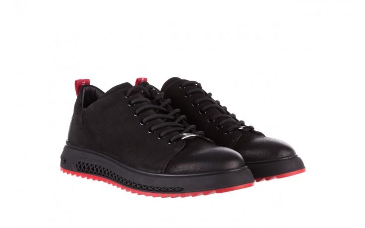 Trampki john doubare 1981-1m black, czarny, skóra naturalna   - buty męskie - mężczyzna 1
