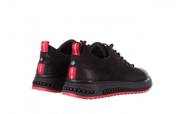 Trampki john doubare 1981-1m black, czarny, skóra naturalna   - buty męskie - mężczyzna 3