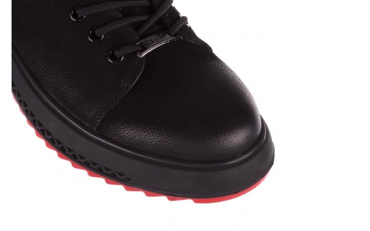Trampki john doubare 1981-1m black, czarny, skóra naturalna   - buty męskie - mężczyzna 5