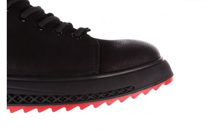 Trampki john doubare 1981-1m black, czarny, skóra naturalna   - buty męskie - mężczyzna 6