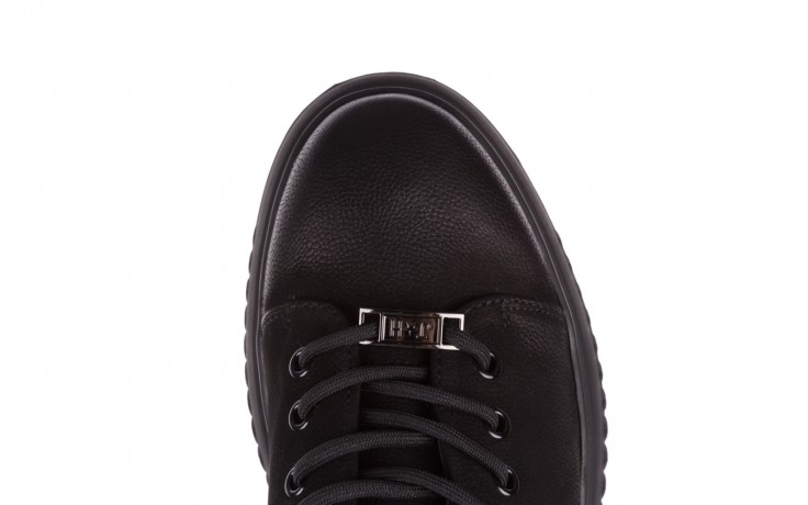 Trampki john doubare 1981-1m black, czarny, skóra naturalna   - buty męskie - mężczyzna 9