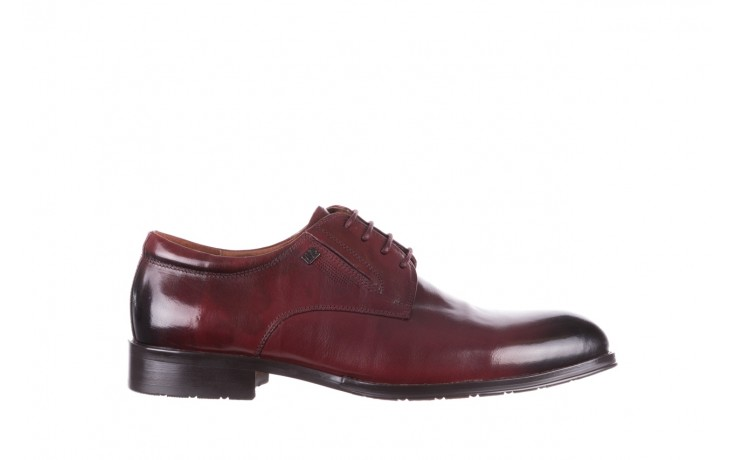 Półbuty brooman y008-27-a16 red, czerwony, skóra naturalna  - wizytowe - półbuty - buty męskie - mężczyzna