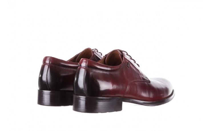 Półbuty brooman y008-27-a16 red, czerwony, skóra naturalna  - wizytowe - półbuty - buty męskie - mężczyzna 3