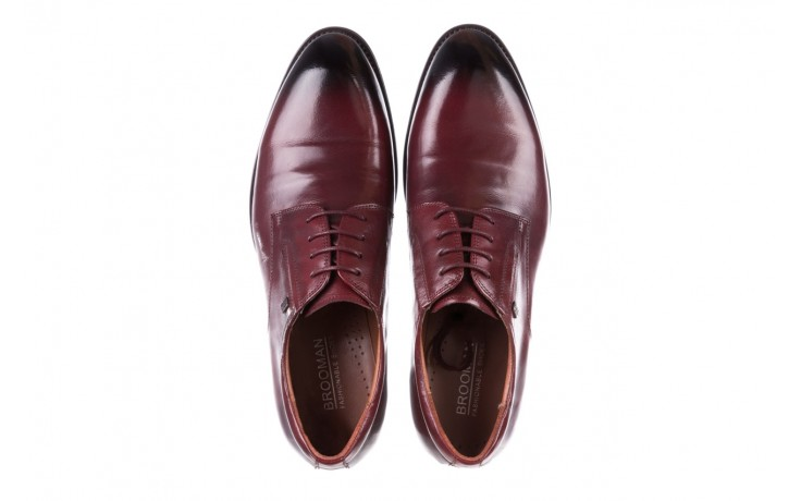 Półbuty brooman y008-27-a16 red, czerwony, skóra naturalna  - wizytowe - półbuty - buty męskie - mężczyzna 4
