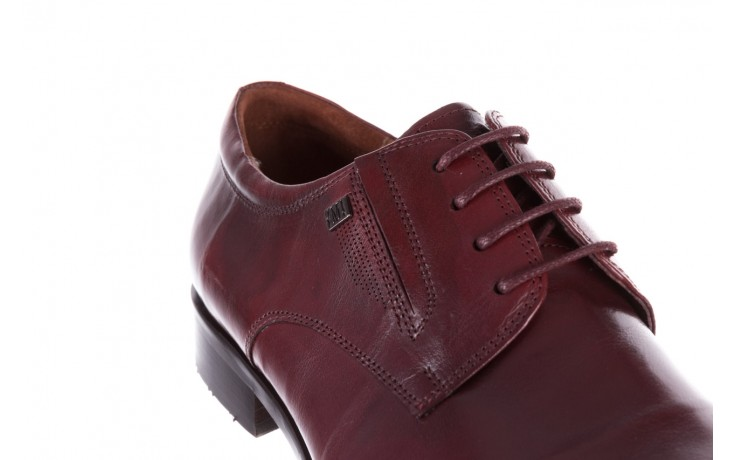 Półbuty brooman y008-27-a16 red, czerwony, skóra naturalna  - wizytowe - półbuty - buty męskie - mężczyzna 6