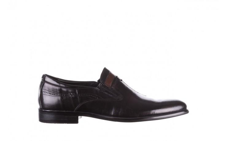 Półbuty john doubare ygc-z253-351-1 black, czarny, skóra naturalna  - buty męskie - mężczyzna