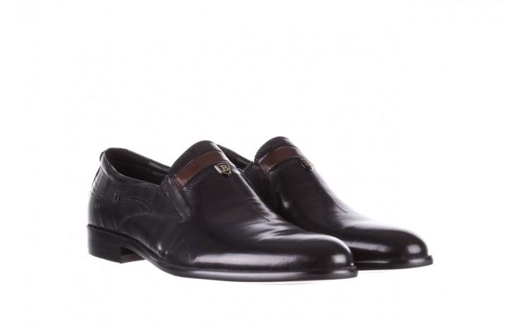 Półbuty john doubare ygc-z253-351-1 black, czarny, skóra naturalna  - buty męskie - mężczyzna 1
