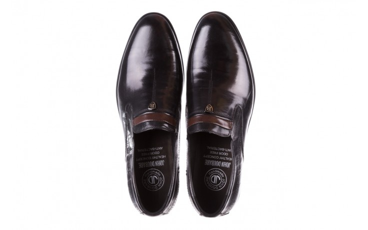 Półbuty john doubare ygc-z253-351-1 black, czarny, skóra naturalna  - buty męskie - mężczyzna 4