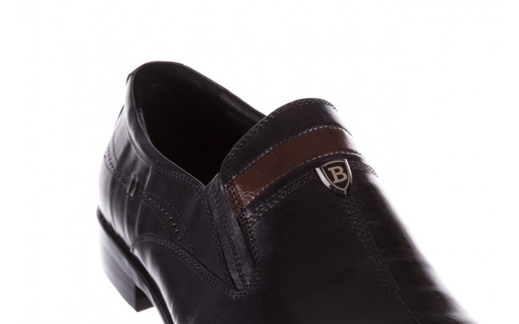 Półbuty john doubare ygc-z253-351-1 black, czarny, skóra naturalna  - buty męskie - mężczyzna 5