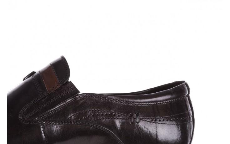 Półbuty john doubare ygc-z253-351-1 black, czarny, skóra naturalna  - buty męskie - mężczyzna 6