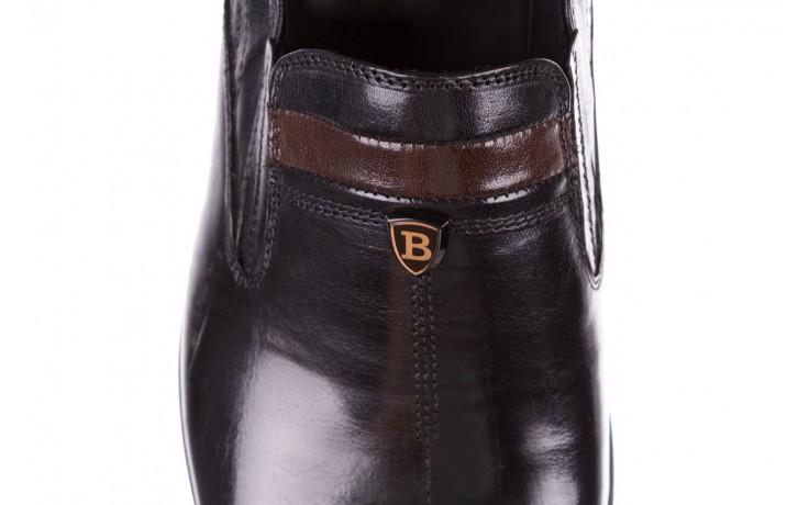 Półbuty john doubare ygc-z253-351-1 black, czarny, skóra naturalna  - buty męskie - mężczyzna 7