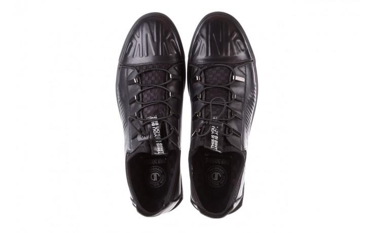 Trampki john doubare s8016-xt6820-1 black 19, czarny, skóra naturalna  - trampki - dla niego - sale 4
