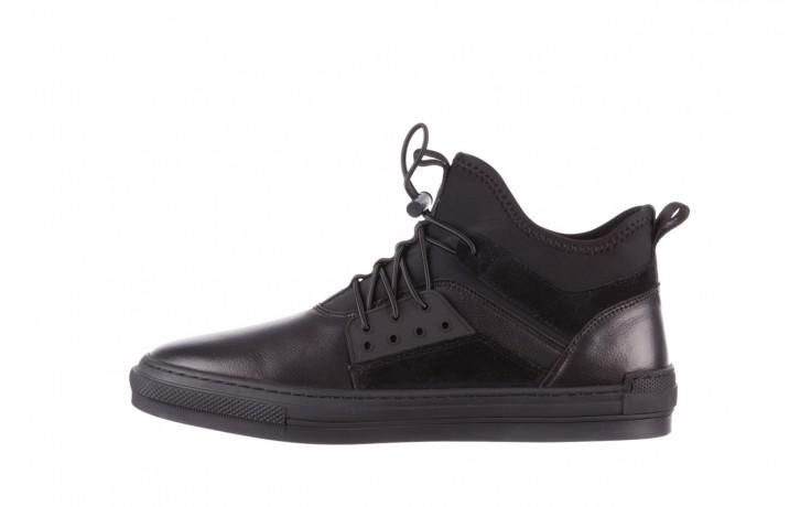 Trampki brooman x21f30r-1 black, czarny, skóra naturalna  - wysokie - trampki - buty męskie - mężczyzna 2