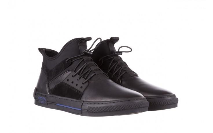 Trampki brooman x21f30r-1 black, czarny, skóra naturalna  - wysokie - trampki - buty męskie - mężczyzna 1