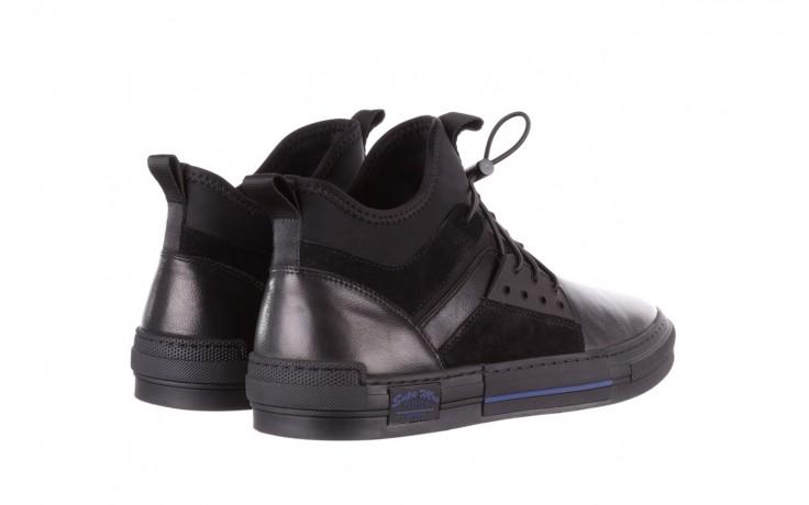 Trampki brooman x21f30r-1 black, czarny, skóra naturalna  - wysokie - trampki - buty męskie - mężczyzna 3
