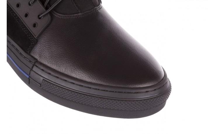 Trampki brooman x21f30r-1 black, czarny, skóra naturalna  - wysokie - trampki - buty męskie - mężczyzna 4