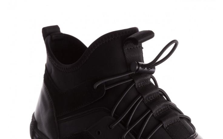 Trampki brooman x21f30r-1 black, czarny, skóra naturalna  - wysokie - trampki - buty męskie - mężczyzna 5