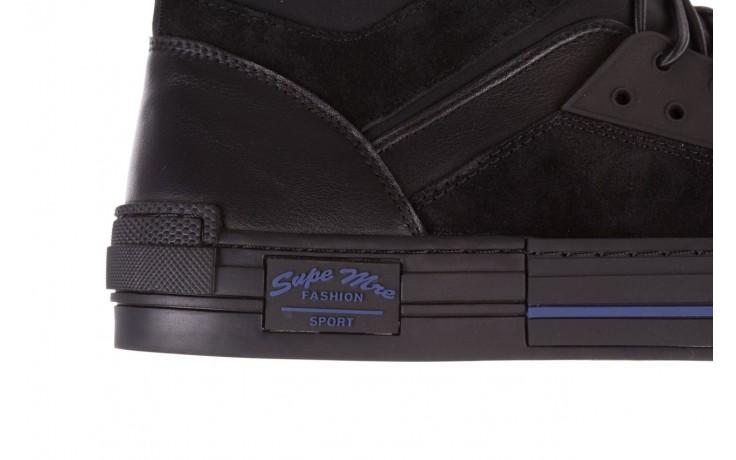 Trampki brooman x21f30r-1 black, czarny, skóra naturalna  - wysokie - trampki - buty męskie - mężczyzna 6