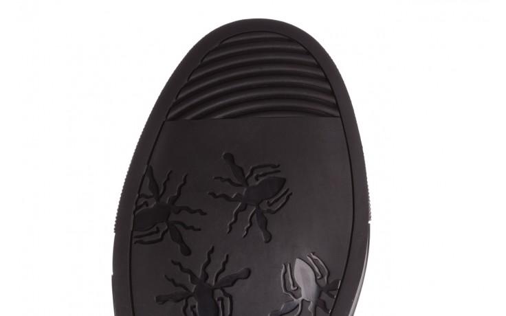Trampki brooman x21f30r-1 black, czarny, skóra naturalna  - wysokie - trampki - buty męskie - mężczyzna 7