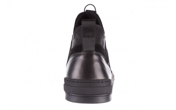 Trampki brooman x21f30r-1 black, czarny, skóra naturalna  - wysokie - trampki - buty męskie - mężczyzna 8
