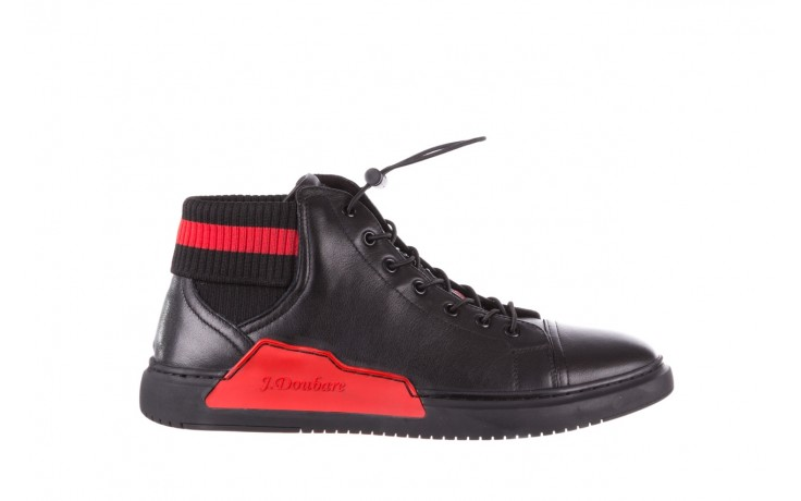 Trampki john doubare fy-9609 black, czarny, skóra naturalna  - sale - buty męskie - mężczyzna