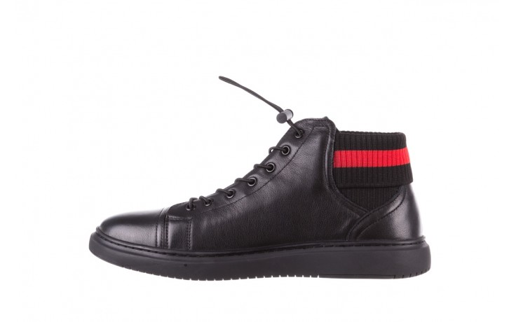 Trampki john doubare fy-9609 black, czarny, skóra naturalna  - sale - buty męskie - mężczyzna 2