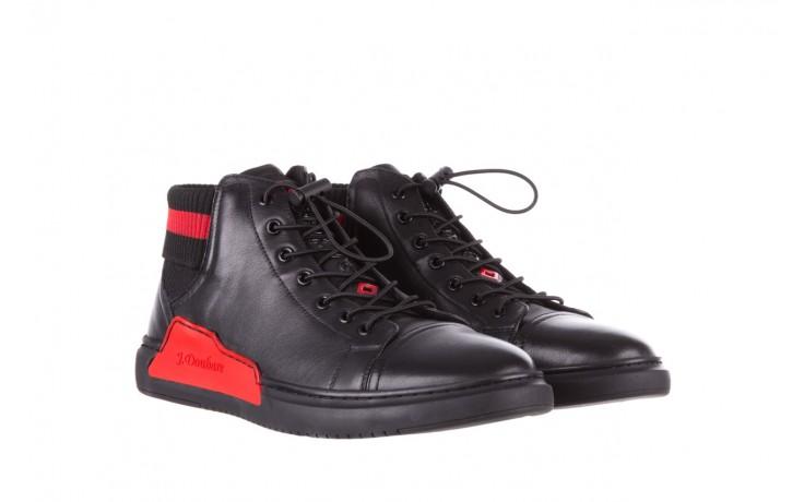 Trampki john doubare fy-9609 black, czarny, skóra naturalna  - sale - buty męskie - mężczyzna 1