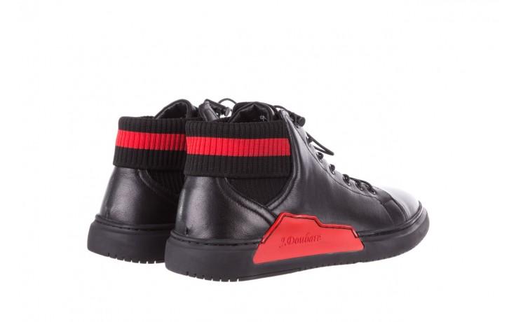 Trampki john doubare fy-9609 black, czarny, skóra naturalna  - sale - buty męskie - mężczyzna 3