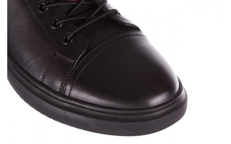 Trampki john doubare fy-9609 black, czarny, skóra naturalna  - sale - buty męskie - mężczyzna 5