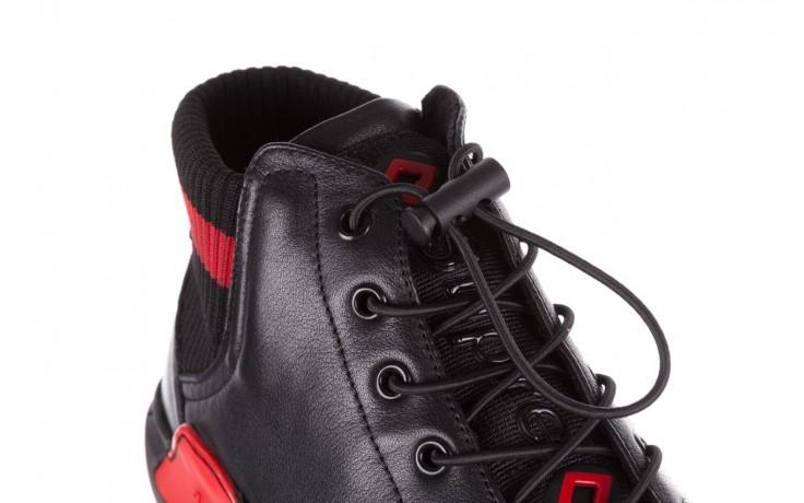Trampki john doubare fy-9609 black, czarny, skóra naturalna  - sale - buty męskie - mężczyzna 6