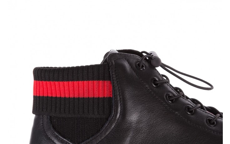 Trampki john doubare fy-9609 black, czarny, skóra naturalna  - sale - buty męskie - mężczyzna 7