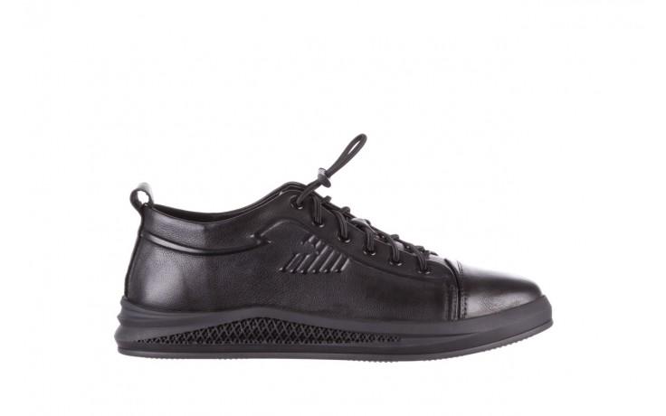 Trampki john doubare 10307 black, czarny, skóra naturalna  - niskie - trampki - buty męskie - mężczyzna