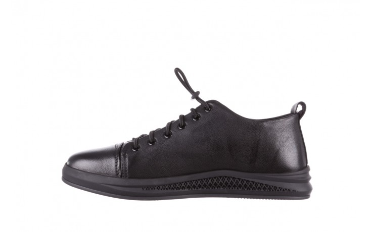 Trampki john doubare 10307 black, czarny, skóra naturalna  - niskie - trampki - buty męskie - mężczyzna 2