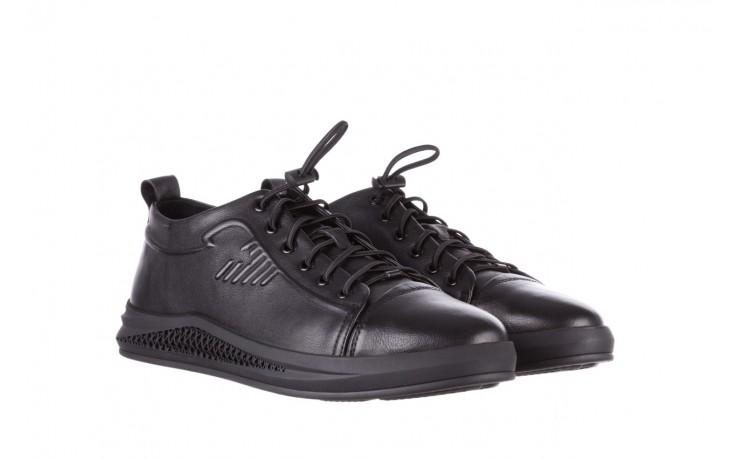 Trampki john doubare 10307 black, czarny, skóra naturalna  - niskie - trampki - buty męskie - mężczyzna 1