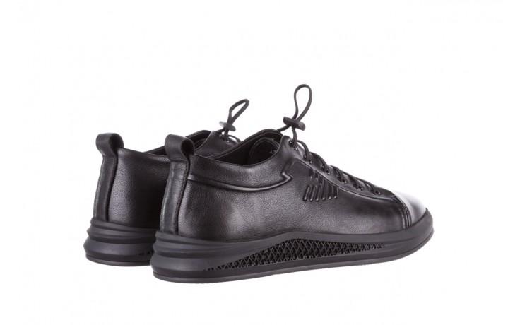 Trampki john doubare 10307 black, czarny, skóra naturalna  - niskie - trampki - buty męskie - mężczyzna 3