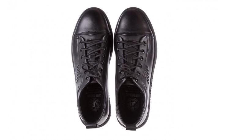 Trampki john doubare 10307 black, czarny, skóra naturalna  - niskie - trampki - buty męskie - mężczyzna 4
