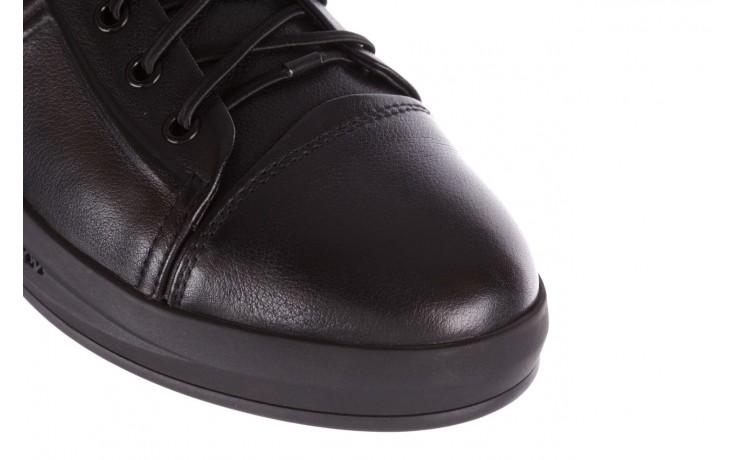 Trampki john doubare 10307 black, czarny, skóra naturalna  - niskie - trampki - buty męskie - mężczyzna 5