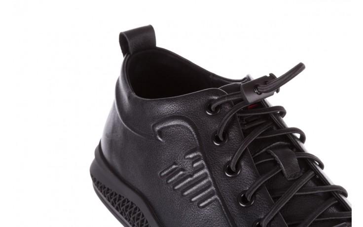 Trampki john doubare 10307 black, czarny, skóra naturalna  - niskie - trampki - buty męskie - mężczyzna 6