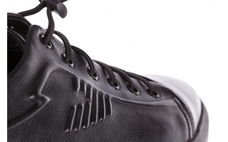 Trampki john doubare 10307 black, czarny, skóra naturalna  - niskie - trampki - buty męskie - mężczyzna 8