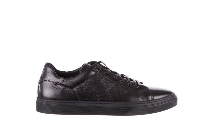 Trampki brooman a641-1a black, czarny, skóra naturalna  - buty męskie - mężczyzna