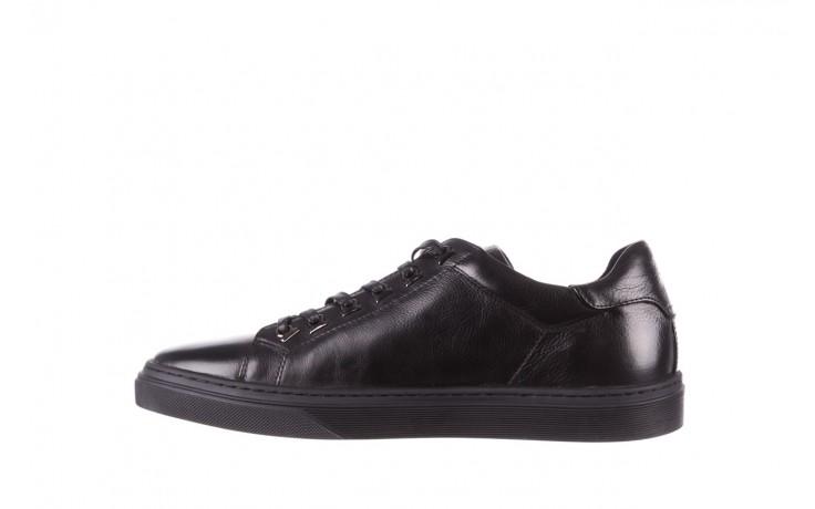 Trampki brooman a641-1a black, czarny, skóra naturalna  - buty męskie - mężczyzna 2