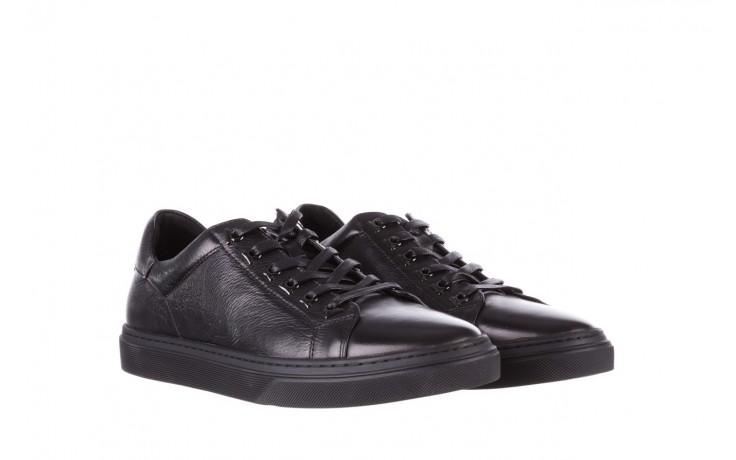 Trampki brooman a641-1a black, czarny, skóra naturalna  - buty męskie - mężczyzna 1