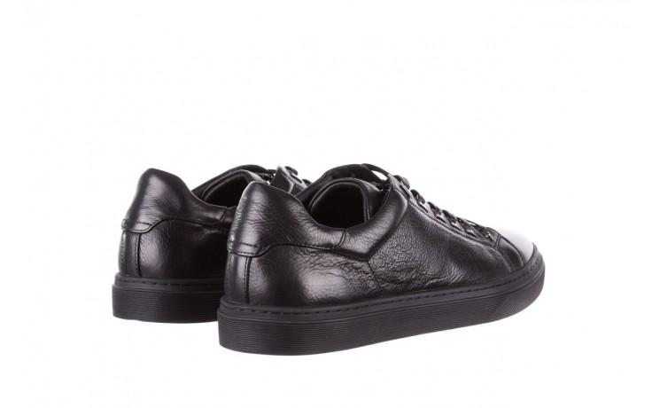 Trampki brooman a641-1a black, czarny, skóra naturalna  - buty męskie - mężczyzna 3